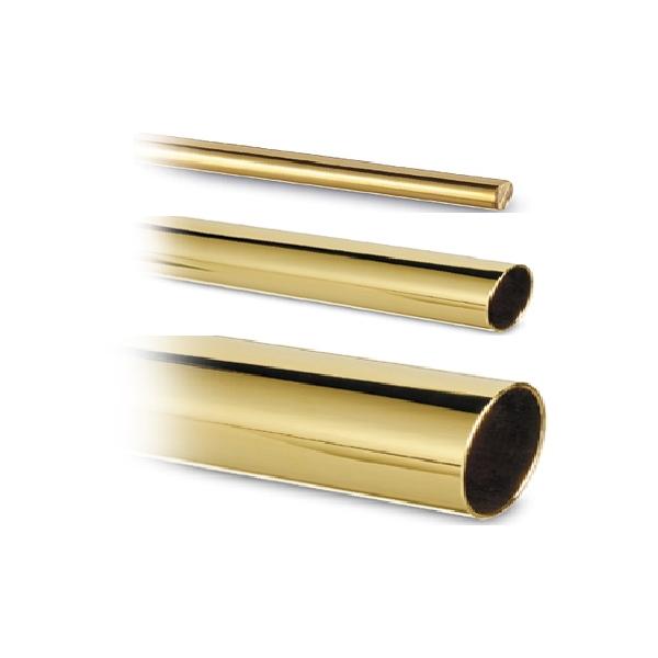 Messing-Effekt Rohr 25,4 mm in Längen 2500 mm