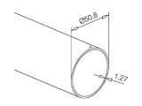 Messing-Effekt Rohr 50,8 mm in Längen 3200 mm