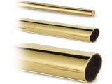 Messingeffekt Rohr 25,4 mm im Zuschnitt
