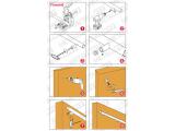 Abstandhalter flach Messing Design für 19, 25,4 oder 38,1 mm Rohr