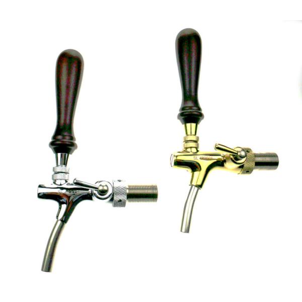 Kompensatorhahn Zapfhahn RUSTIKAL verchromt/vergoldet mit 35mm/55mm Gewindestutzen