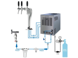 Tafelwassergerät Sprudel Wasserzapfanlage Cosmetal...