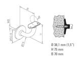 Handlaufstütze Chrom Design Handlaufhalter für Rohr 38,1 mm