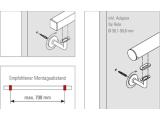Handlaufstütze Chrom Design Handlaufhalter flach