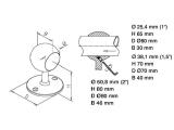 Rohrhalter Chrom für 25,4, 38,1 oder 50,8 mm Durchmesser