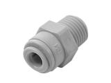 Einschraubverbinder - grau - Gewinde BSP-PT 3/8 Zoll AG -...