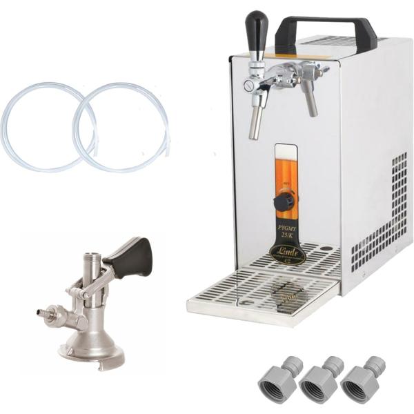 Bierkühler Zapfanlage Bierzapfanlage Zapfgerät mit Membranpumpe - 35 Liter/h