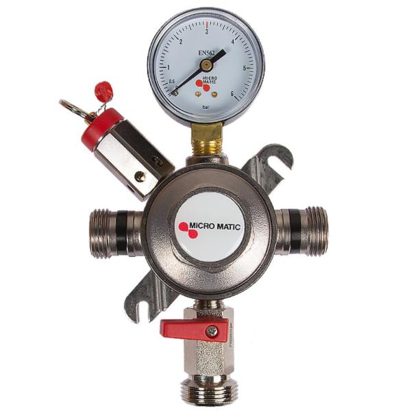 Zwischendruckregler Druckminderventil mit Sicherheitsventil 1-leitig 3 bar 7 bar