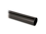 Edelstahlrohr Rundrohr - Anthrazit-Design - 38,1mm (1,5...