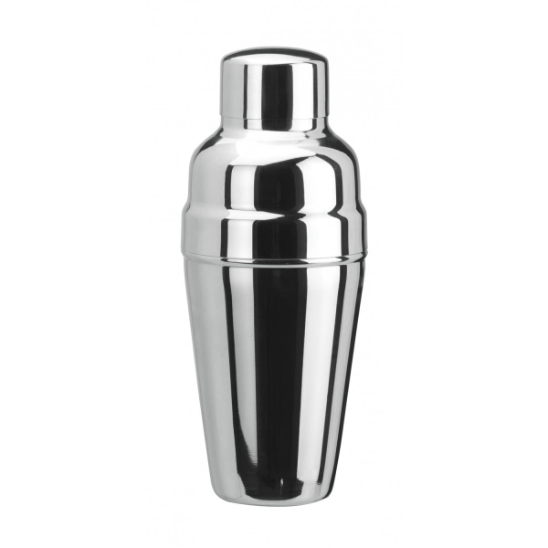 Cocktail Shaker 3tlg. - Edelstahl mit Eisrückhalter - DELUXE Version