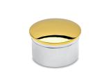 Endkappe gewölbt Messing Design für Rohr 19,0 mm