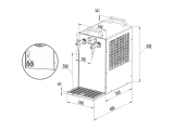 Bierkühler Zapfanlage Bierzapfanlage 2-ltg mit Kühlung Trockenkühler 90 Liter/h