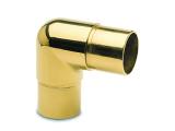 90 Grad Rohrverbinder halbrund Messing Design für...