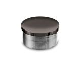 Endkappe Anthrazit Design flach für Rohr 38,1 mm