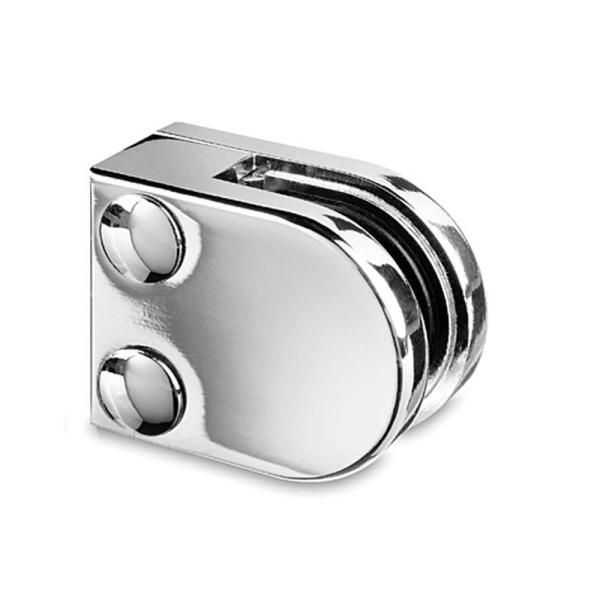 Glasklemme flach Modell 20 - Chrom-Design