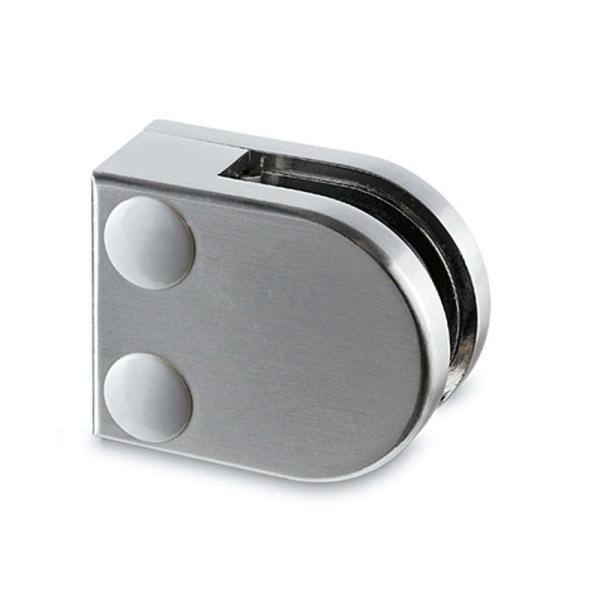 Glasklemme flach Modell 20 - Edelstahl-Design