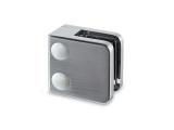 Glasklemme flach Modell 21 - Edelstahl-Design