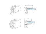 Glasklemme flach Modell 21 - Messing-Design