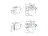 Glasklemme flach Modell 22 - Messing-Design