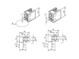 Glasklemme flach Modell 23 - Messing-Design