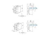 Glasklemme flach Modell 26 - Edelstahl-Design