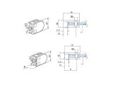 Glasklemme flach Modell 27 - Messing-Design