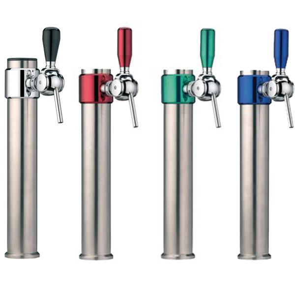 Bier Wasser Schanksäule Zapfsäule - Sisco - Chrom matt - 1-leitig