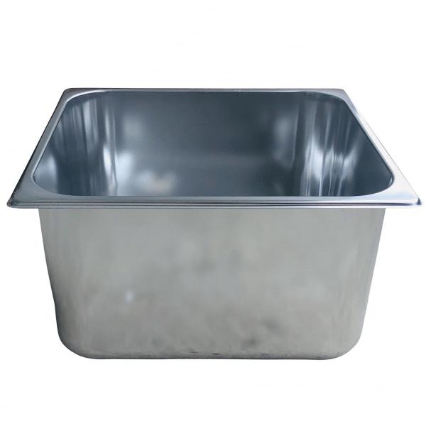 Spülbecken Gastrobecken 30x24cm - 20cm tief - Edelstahl