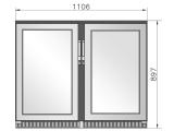 Getränketheke Kompakt Kühltheke MiniMax Einbaufertig - 1100mm breit - 520mm tief