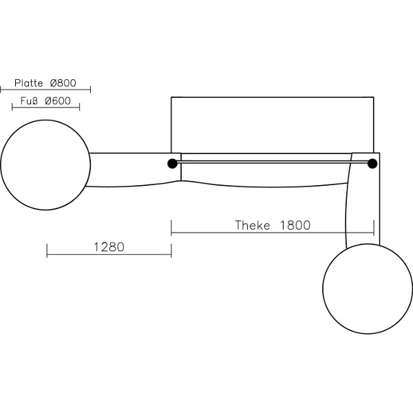 erweiterung f r mobile theken 1800 mm. Black Bedroom Furniture Sets. Home Design Ideas