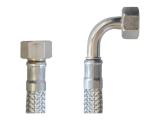 Flex Wasser Sanitär Gewebe Anschluß Schlauch DN8 - 3/8 Zoll Innengewinde