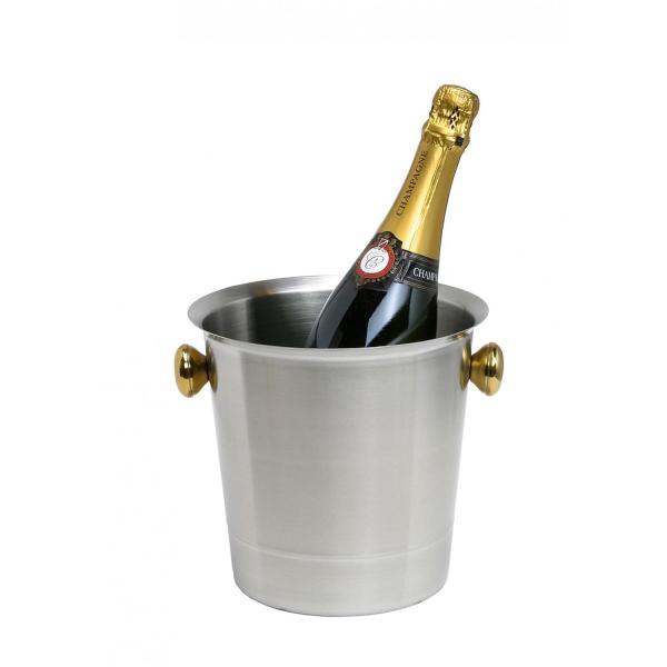 Sektkübel Champagnerkübel Eiskübel Flaschenkühler Getränkekühler - Edelstahl