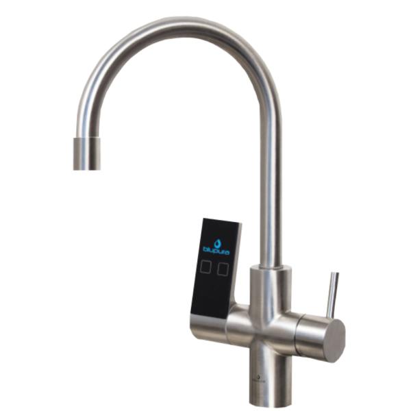 Wasserhahn Küche Mischbatterie 7-Wege C-Auslauf blupra BluSeven Edelstahl INOX
