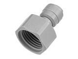 Aufschraubverbinder - grau - Gewinde BSP-P 1/2 Zoll IG...