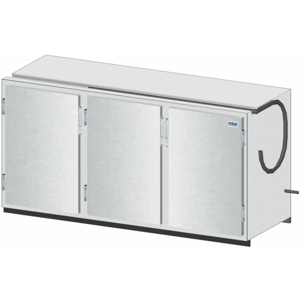Getränketheke Kühltheke Bauteil ohne Kältesatz Vario - 1810mm breit - 650mm tief