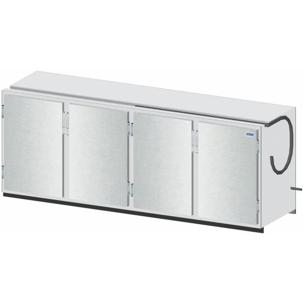 Getränketheke Kühltheke Bauteil ohne Kältesatz Vario - 2410mm breit - 650mm tief