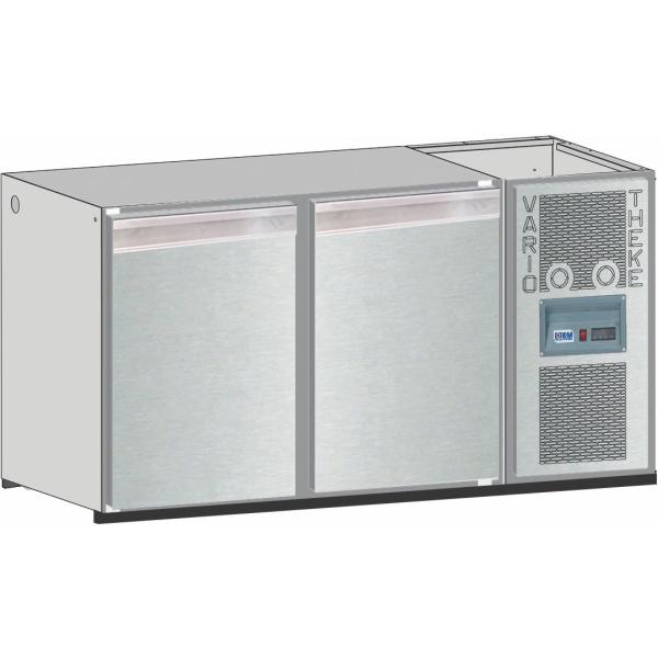 Getränketheke Kühltheke Bauteil Unterbaukühlung Vario - 1600mm breit 650mm tief