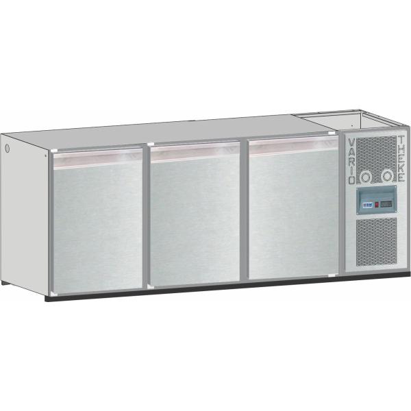 Getränketheke Kühltheke Bauteil Unterbaukühlung Vario - 2300mm breit 650mm tief
