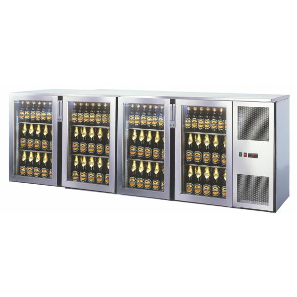 Getränketheke Kühltheke Unterbaukühlung MiniMax - 2550mm breit - 400mm tief