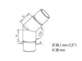 45 Grad Rohrverbinder Anthrazit Design für 38,1 mm...