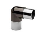 90 Grad Rohrverbinder halbrund Anthrazit Design für...