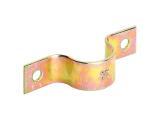 Rohrschelle - galvanisch gelb verzinkt - 32x107mm