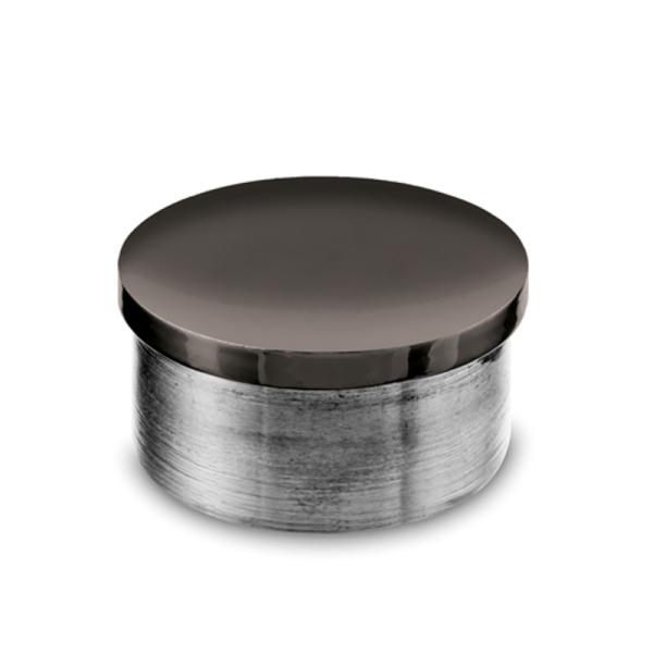 Endkappe Anthrazit Design flach für 19,0, 25,4 oder 38,1 mm Rohre