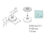 Zier- Abschlussscheibe Anthrazit Design flach für...