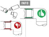 Zier- Abschlussscheibe Anthrazit Design flach für 25,4 und 38,1 mm Rohre