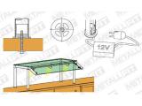 Rohrbefestigung Anthrazit Design Fusslaufstützen für unsere 25,4 und 38,1 mm Rohre