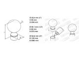 Endkugel Edelstahl Design für 25,4 und 38,1 mm Rohr