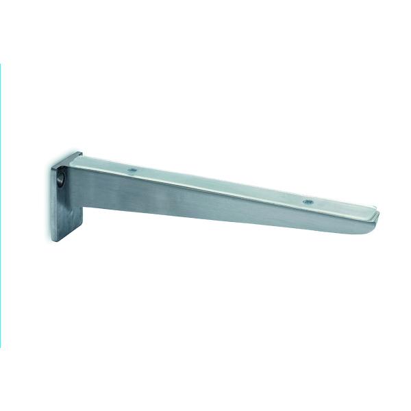 Glasplattenträger Edelstahl Design 200 oder 300 mm