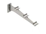 Tablettrutschen Träger Edelstahl Design für 25,4 mm Rohr