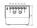 Bierkühler Zapfanlage Bierzapfanlage Zapfgerät Craft Beer 6-leitig 90 Liter/h